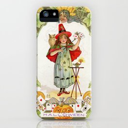The Little Witch / Nash Vintage Postcard 1900s iPhone Case