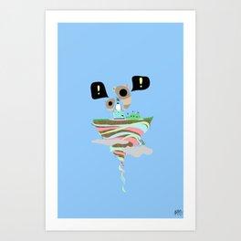 Dreaming for an adventure. Art Print