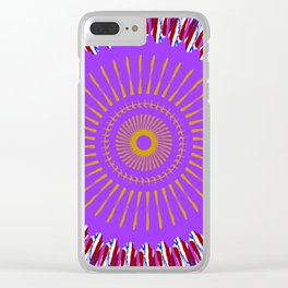 Indian headdress Clear iPhone Case