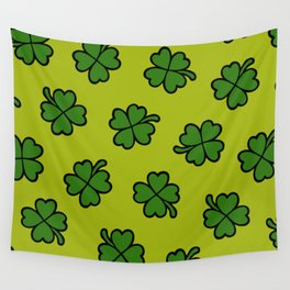 Lucky Four Leaf Clover Pattern Wall Tapestry