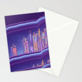 Saturnian Ultraviolet Wave Two Stationery Cards