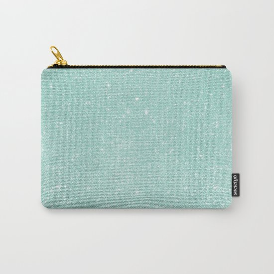 Pastel Turquoise Glitter Carry-All Pouch