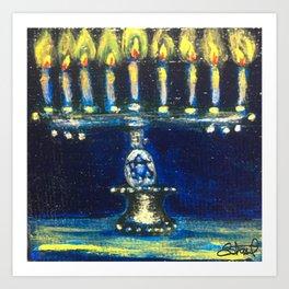 Chanukah Menorah Art Print