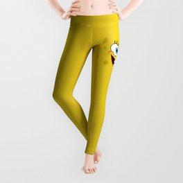 Yellow Smile Leggings