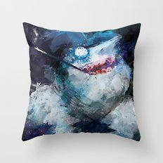 Penguin painting Throw Pillow