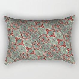 Autumn Green & Red Rectangular Pillow