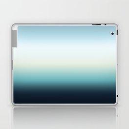 ocean sky color gradient  - blue , white , black Laptop & iPad Skin