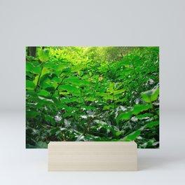 Green foliage Mini Art Print
