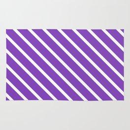 Lavender Purple Diagonal Stripes Rug