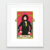 marc allante Framed Art Prints featuring Marc Bolan by Saoirse Mc Dermott