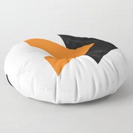 Forward arrows marble orange Floor Pillow