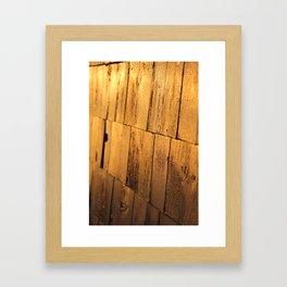 Golden Shingles  Framed Art Print