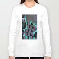 cracked Long Sleeve T-shirts featuring Cracked Metal by Bakmann Art