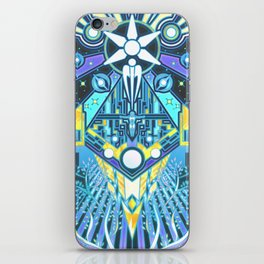 The Reaper War: Control Ending - Quarian Tapestry Art Style (blue/lavender ver.) iPhone Skin