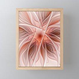 Flower Decoration, Abstract Fractal Art Framed Mini Art Print