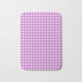 Cotton Candy Pink and Lavender Violet Diamonds Bath Mat