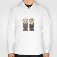 muppets Hoodies featuring Statler & Waldorf – The Muppets by Big Purple Glasses