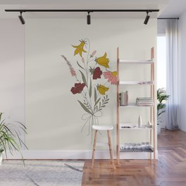 Wildflowers Bouquet Wall Mural