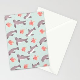 Sea lion & Lionfish Stationery Cards
