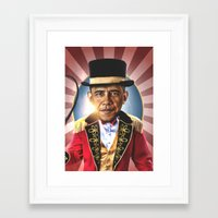 obama Framed Art Prints featuring OBAMA by NOXBIL