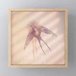 little swallow Framed Mini Art Print