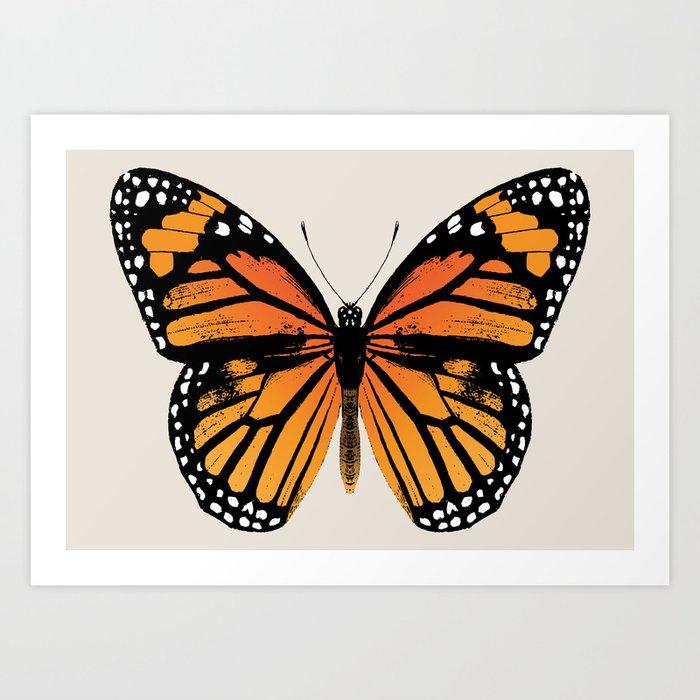 Monarch Butterfly | Vintage Butterfly | Kunstdrucke
