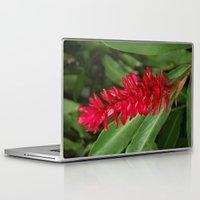 hawaiian Laptop & iPad Skins featuring Hawaiian flower by lennyfdzz