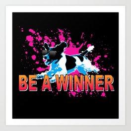 Cool Dog Winner Art Print