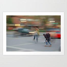 New York City Skaters #1 Art Print