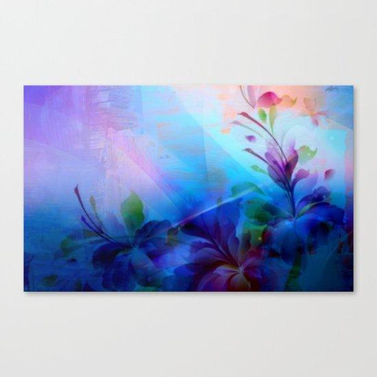Sunset Painterly Floral Canvas Print