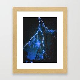 Blue Lightning Framed Art Print