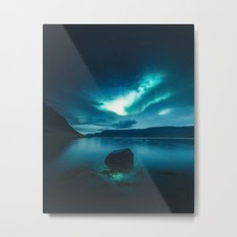 Aurora Borealis (Northern Polar Lights) Metal Print