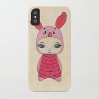 tigger iPhone & iPod Cases featuring A Boy - Piglet (porcinet) by Christophe Chiozzi