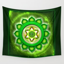 "Anahata Chakra - Heart Chakra - Series ""Open Chakra"" Wall Tapestry"