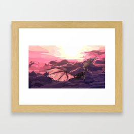 Skies of Bliss Framed Art Print