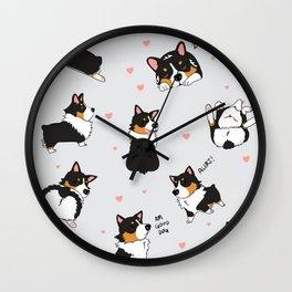 Tri Cute as Hecc Hearts Wall Clock