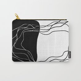 """Abstract ink pen drawing """"Wonky"""" Carry-All Pouch"""