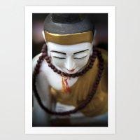 buddha Art Prints featuring Buddha by Maria Heyens