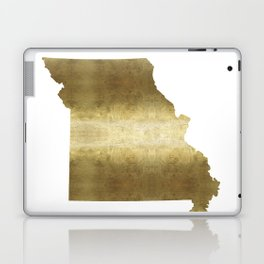 missouri gold foil state map Laptop & iPad Skin