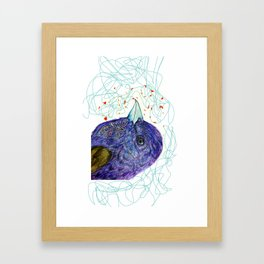 purple bird Framed Art Print