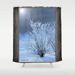 Hoar Frost on the Lilac Bush Shower Curtain