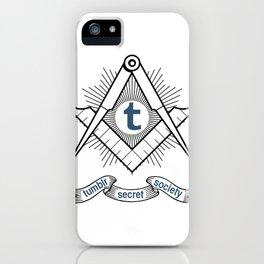 Tumblr Secret Society iPhone Case