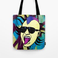 punk Tote Bags featuring PUNK!!! by Denis Marsili DDTK