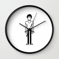bruce springsteen Wall Clocks featuring Bruce Springsteen  by Band Land