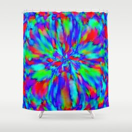 with green, 2 Shower Curtain