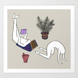 reader bender Art Print