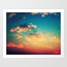 My Head is stuck in the Clouds Art Print