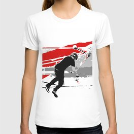 Spinning the Deck - Tail-whip Scooter Stunt T-shirt