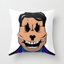Elegant skull Throw Pillow
