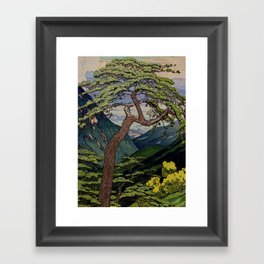 The Downwards Climbing Framed Art Print